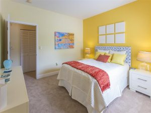 Yellow Bedroom - Hawthorne At The Meadows - Kearnersville, NC