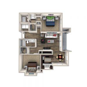Crowne at James Landing Apartments Floor Plan 3