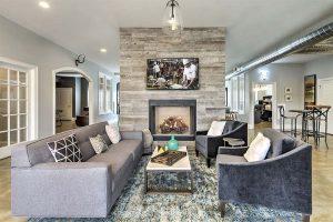 Burlington Corporate Housing Retreat at the Park Living Room