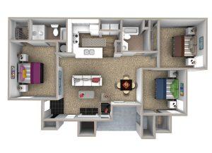 Crowne at James Landing Apartments Floor Plan