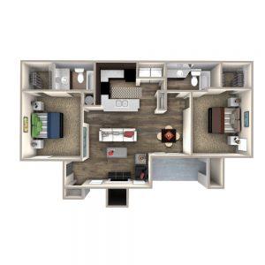 Crowne at James Landing Apartments Floor Plan 2