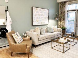 Hawthorne at Friendly living room Greensboro