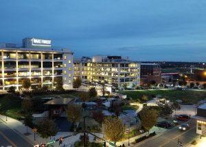 Link Apartments Innovation Quarter skyline Winston-Salem