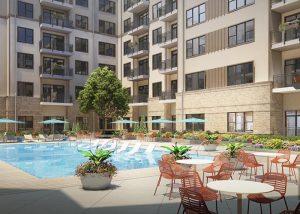 Link Apartments Innovation Quarter pool Winston-Salem