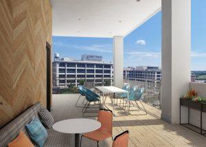 Link Apartments Innovation Quarter rooftop Winston-Salem