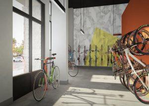 Link Apartments Innovation Quarter cycle storage Winston-Salem