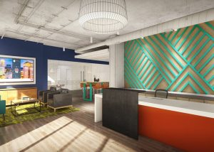 Link Apartments Innovation Quarter clubhouse Winston-Salem