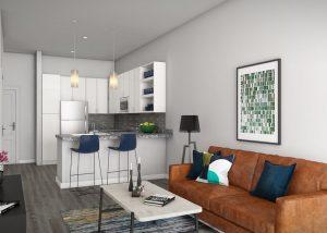 Link Apartments Innovation Quarter living space Winston-Salem