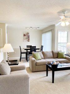 Crowne at James Landing Apartments living area Jamestown North Carolina