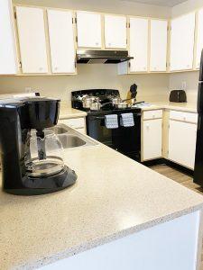 Crowne at James Landing Apartments kitchen Jamestown